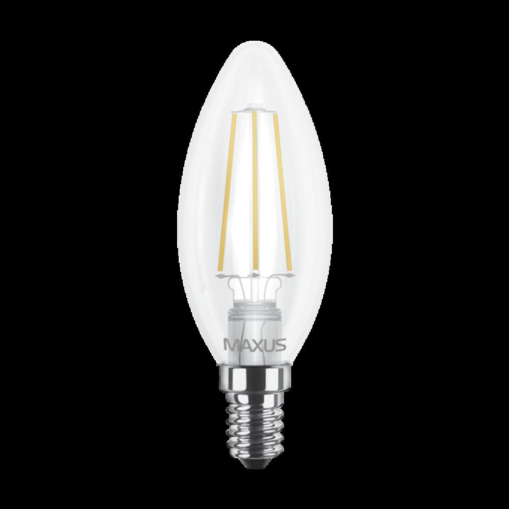 LED лампа MAXUS (филамент), C37, 4W E14 (арт. 1-LED-537)