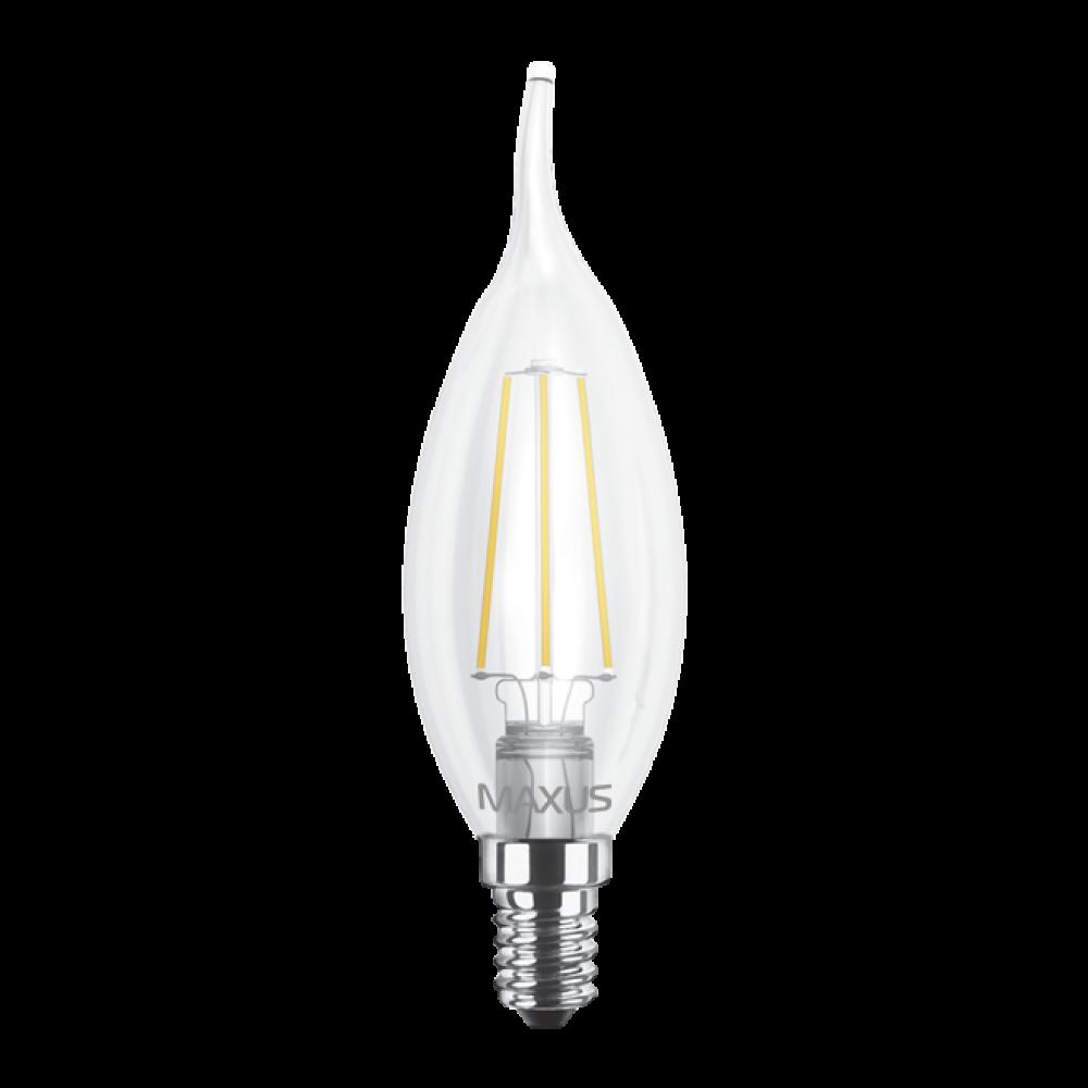 LED лампа MAXUS (филамент), C37 TL, 4W E14 (арт. 1-LED-539)