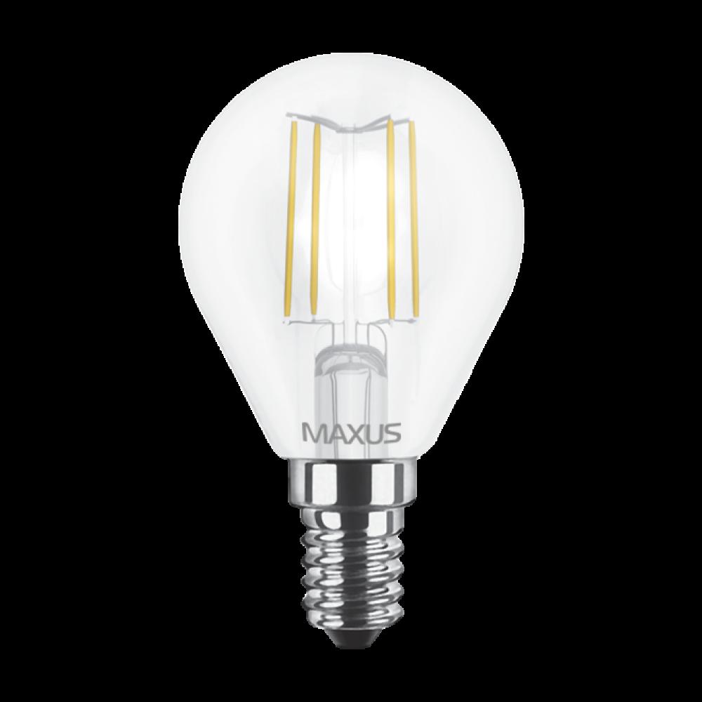 LED лампа MAXUS (филамент), G45, 4W, E14 (арт. 1-LED-547)