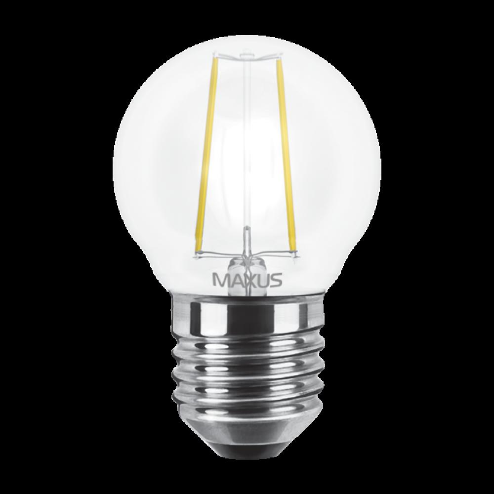 LED лампа MAXUS (филамент), G45, 4W, E27 (арт. 1-LED-545)