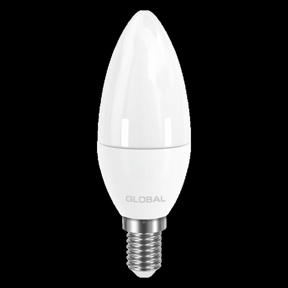 LED лампа GLOBAL C37 CL-F 5W 220V E14 AP (арт. 1-GBL-133)
