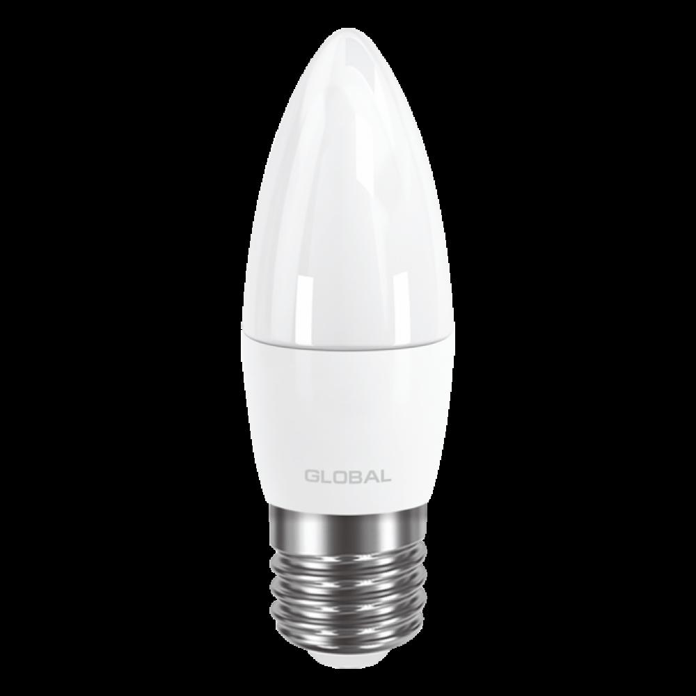 LED лампа GLOBAL C37 CL-F 5W 220V E27 AP (арт. 1-GBL-131)
