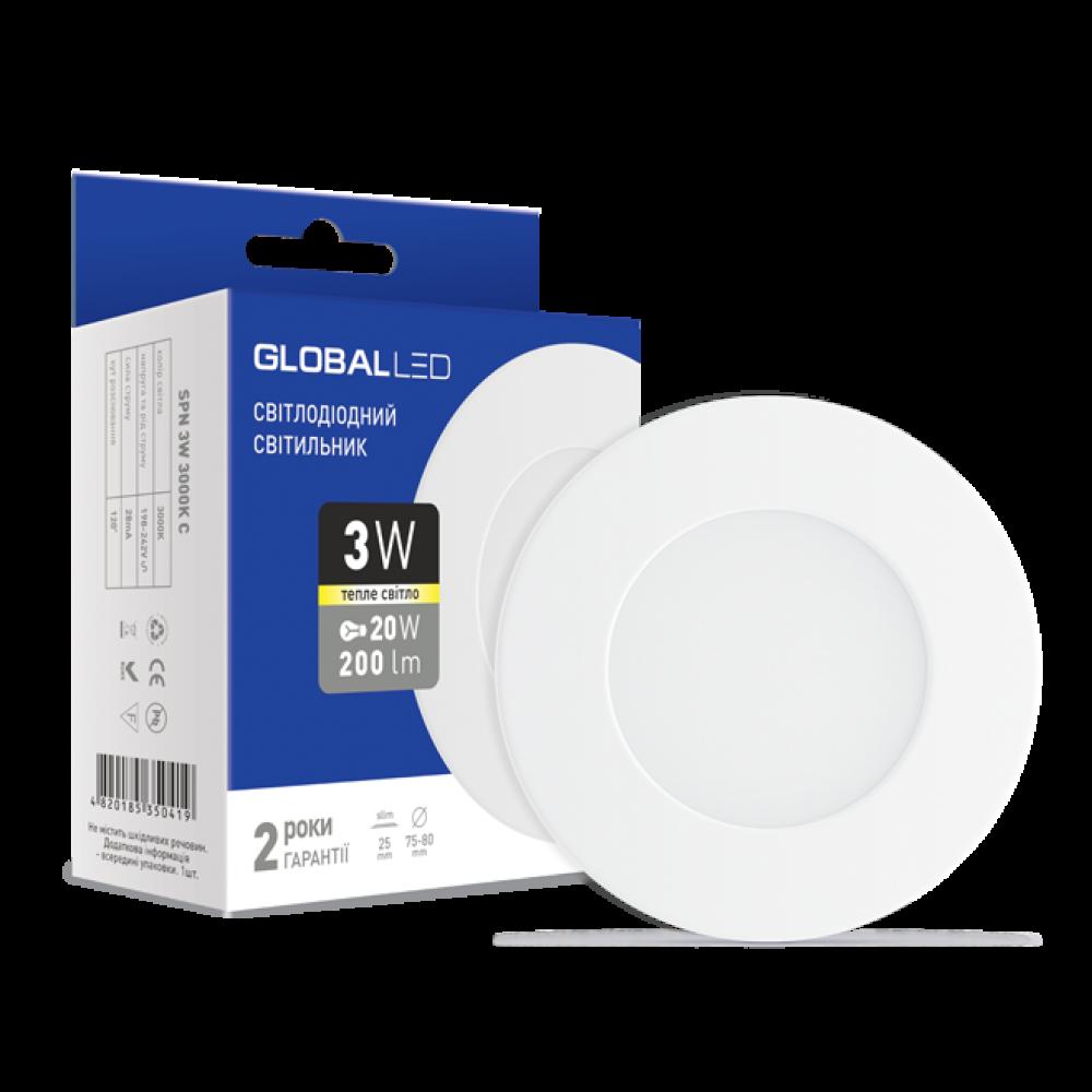 Панель (міні) GLOBAL LED SPN 3W (1-SPN-001)