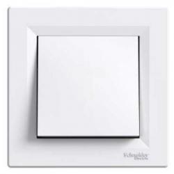 Выключатель однокл. самозаж. белый (ASFORA)