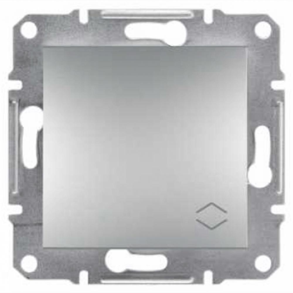 Выключатель одноклавишный алюминивый (ASFORA)