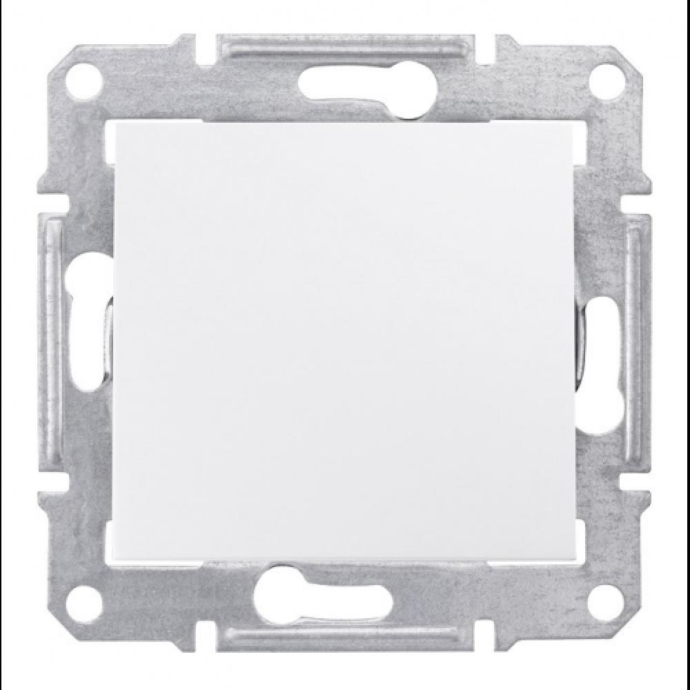 2-х полюсный выключатель белый (SEDNA)