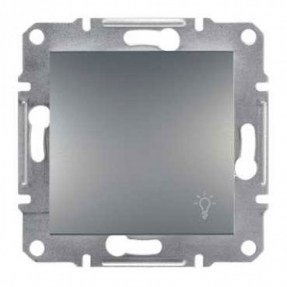 Кнопка - свет сталь (ASFORA)