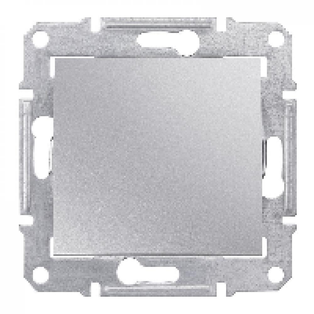 2-х полюсный одноклавишный  выключатель серый (SEDNA)