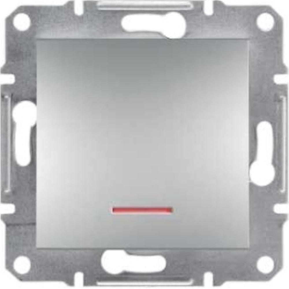 Выключатель одноклавишный алюминиевый (ASFORA)