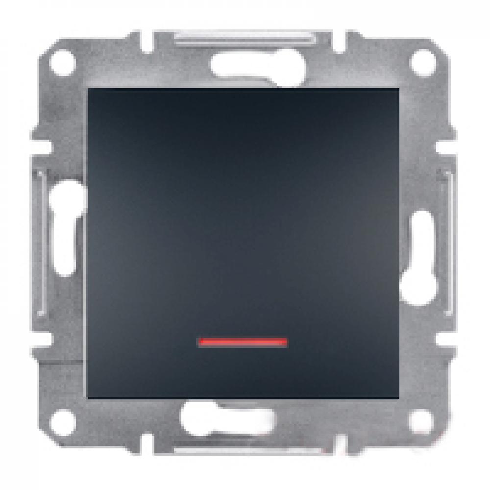 Выключатель одноклавишный с подсветкой антричный (ASFORA)