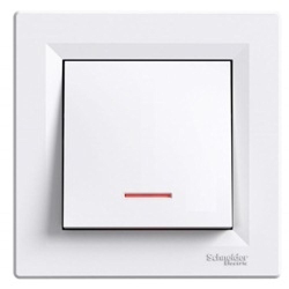Кнопка з підсвічуванням біла (ASFORA)