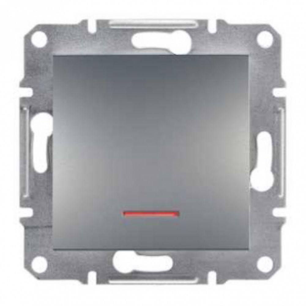 Кнопка с подсветкой сталь (ASFORA)