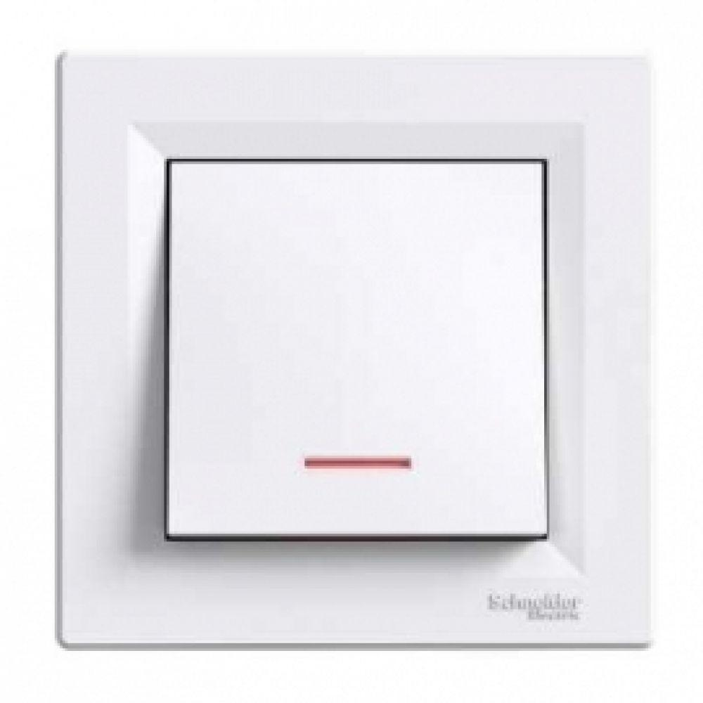 Кнопка - гвинт з підсвічуванням біла (ASFORA)