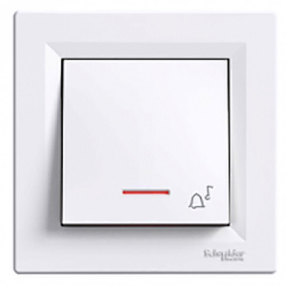 Кнопка - звонок с подсветкой белая (ASFORA)
