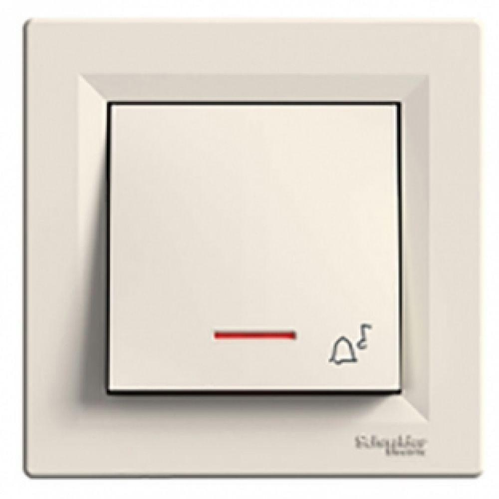 Кнопка - звонок с подсветкой крем (ASFORA)