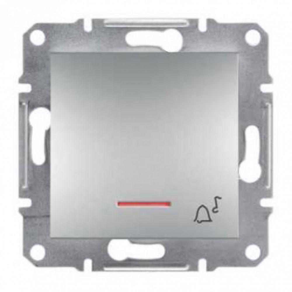 Кнопка - звонок с подсветкой алюминиевая (ASFORA)