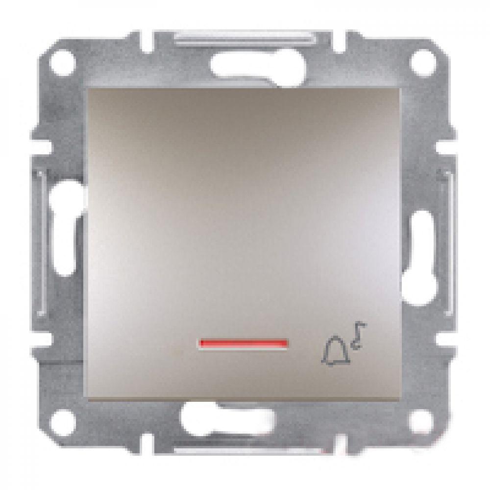 Кнопка - дзвінок з підсвічуванням бронза (ASFORA)