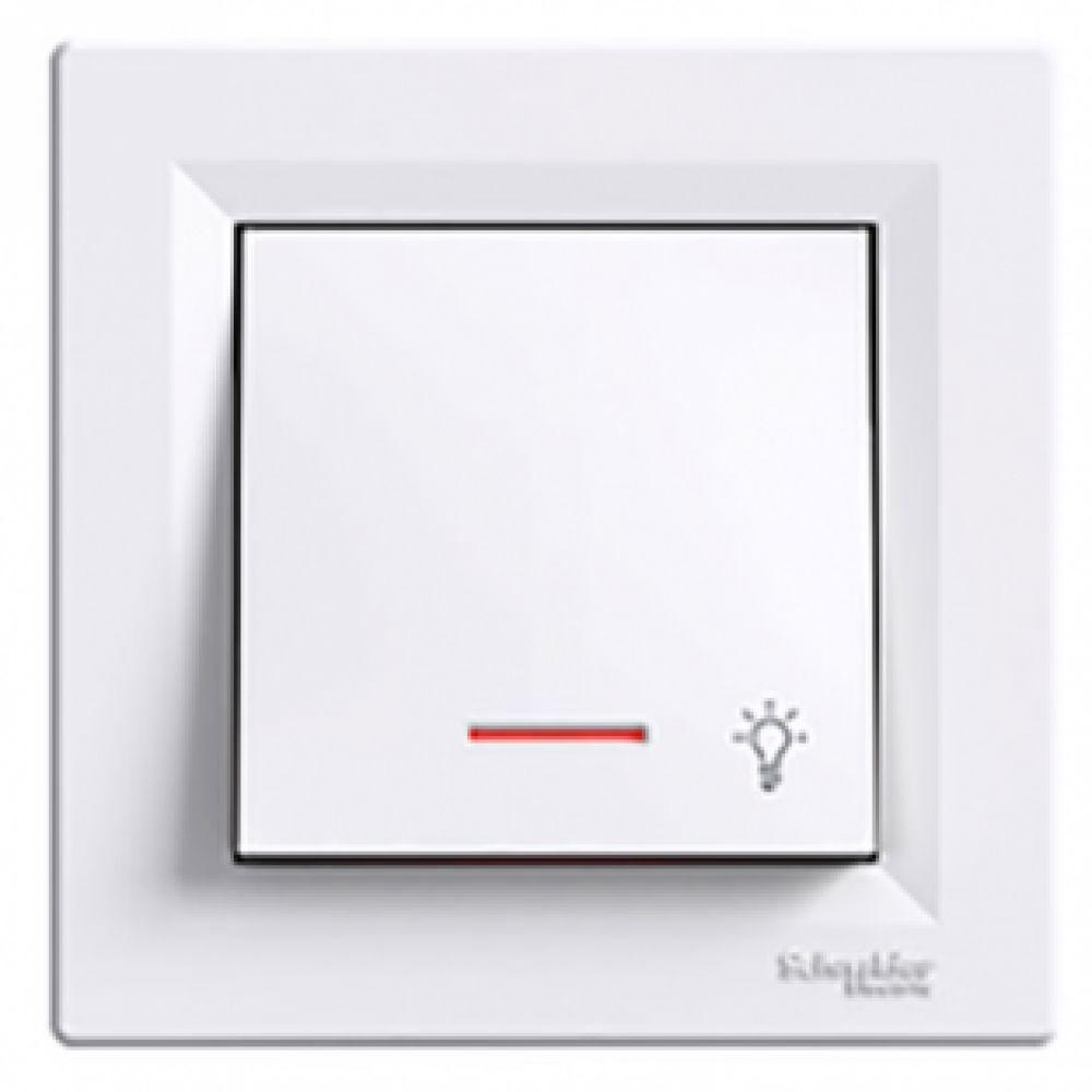 Кнопка - світло з підсвічуванням біла (ASFORA)