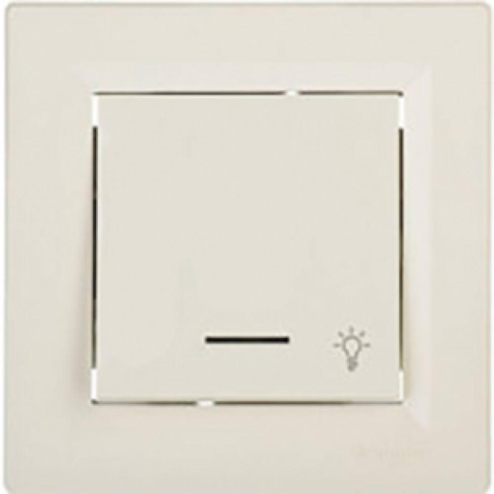 Кнопка - свет с подсветкой крем (ASFORA)