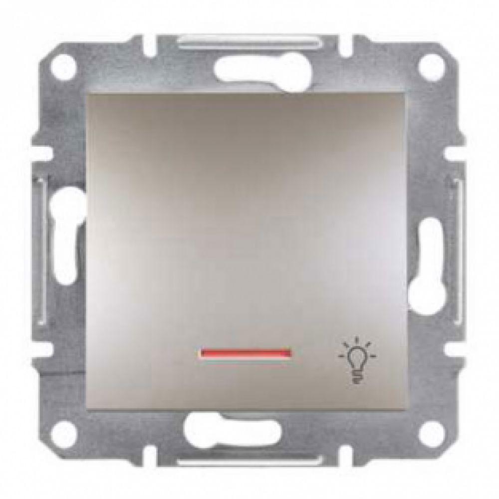 Кнопка - свет с подсветкой бронза (ASFORA)