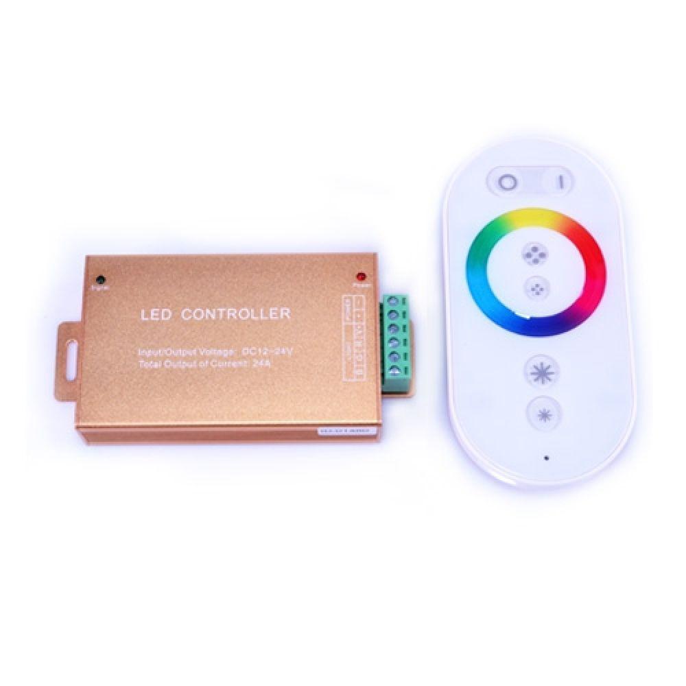 RGB-контролер сенсорний White (touch controller, 24А) радіо Venom