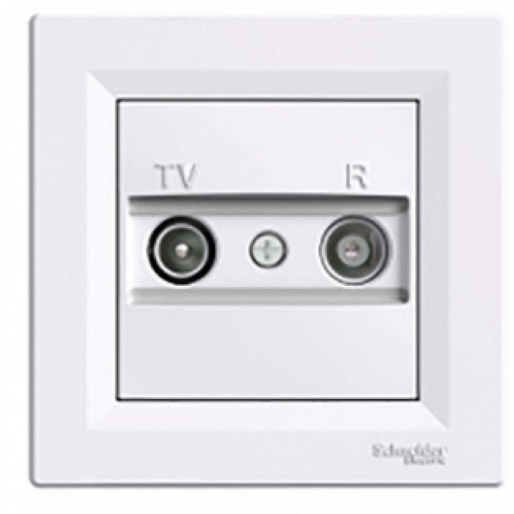 Розетка TV/R конечная белая (ASFORA)