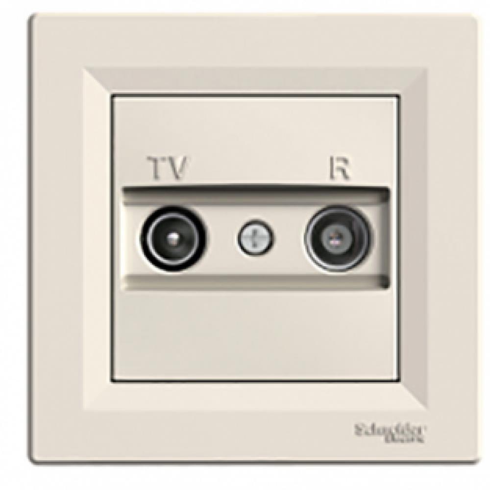 Розетка TV/R конечная крем (ASFORA)