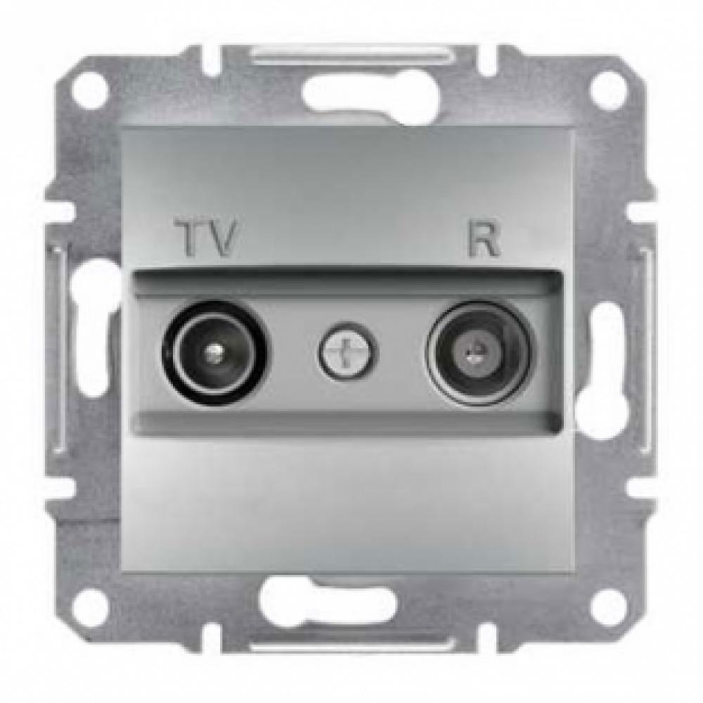 Розетка TV/R конечная алюминиевая (ASFORA)