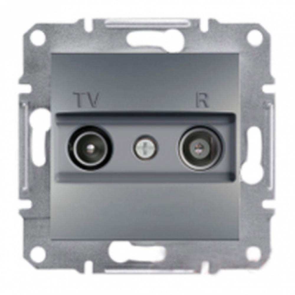 Розетка TV/R конечная сталь (ASFORA)