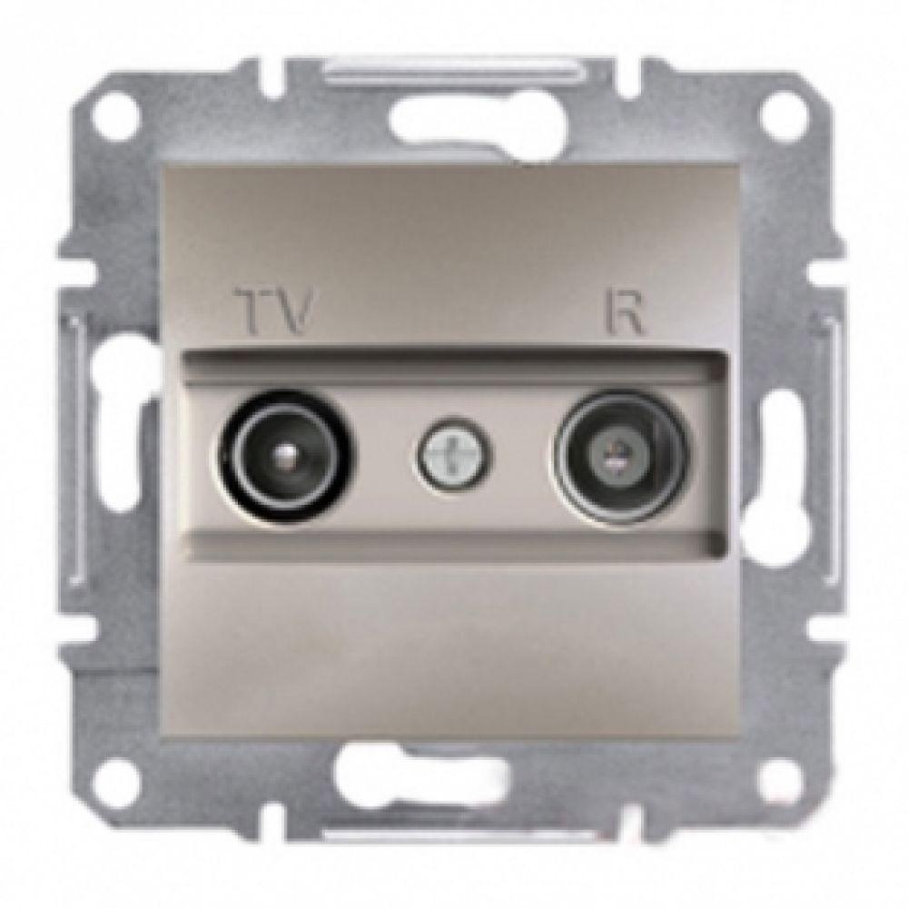 Розетка TV/R конечная бронза (ASFORA)