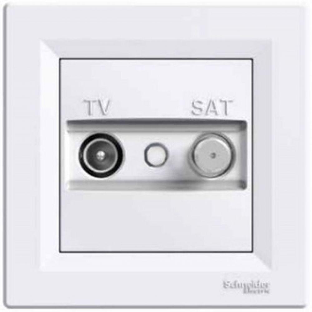 Розетка TV-SAT оконечная белая (ASFORA)