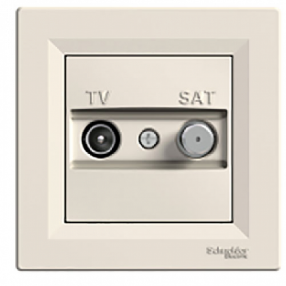 Розетка TV-SAT крайова крем (ASFORA)