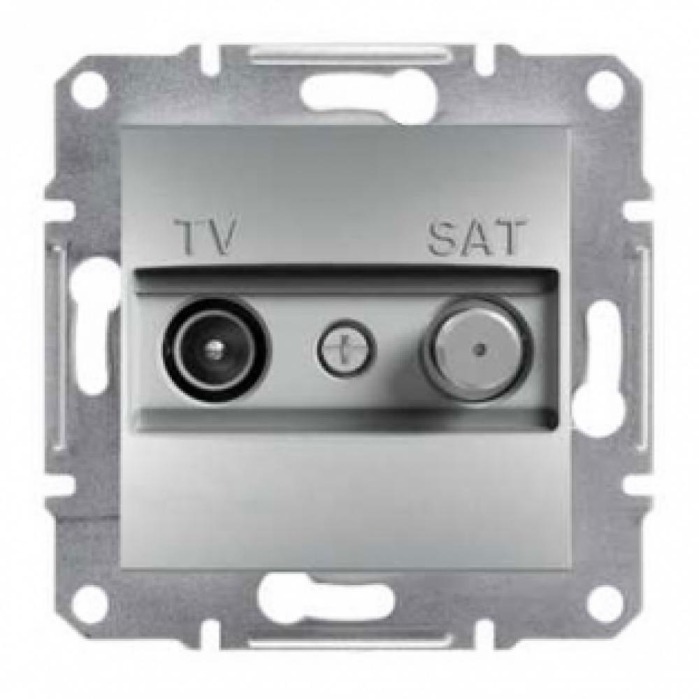 Розетка TV-SAT проходная алюминиевый (ASFORA)
