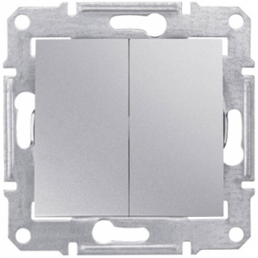 2-кл выключатель серый (SEDNA)