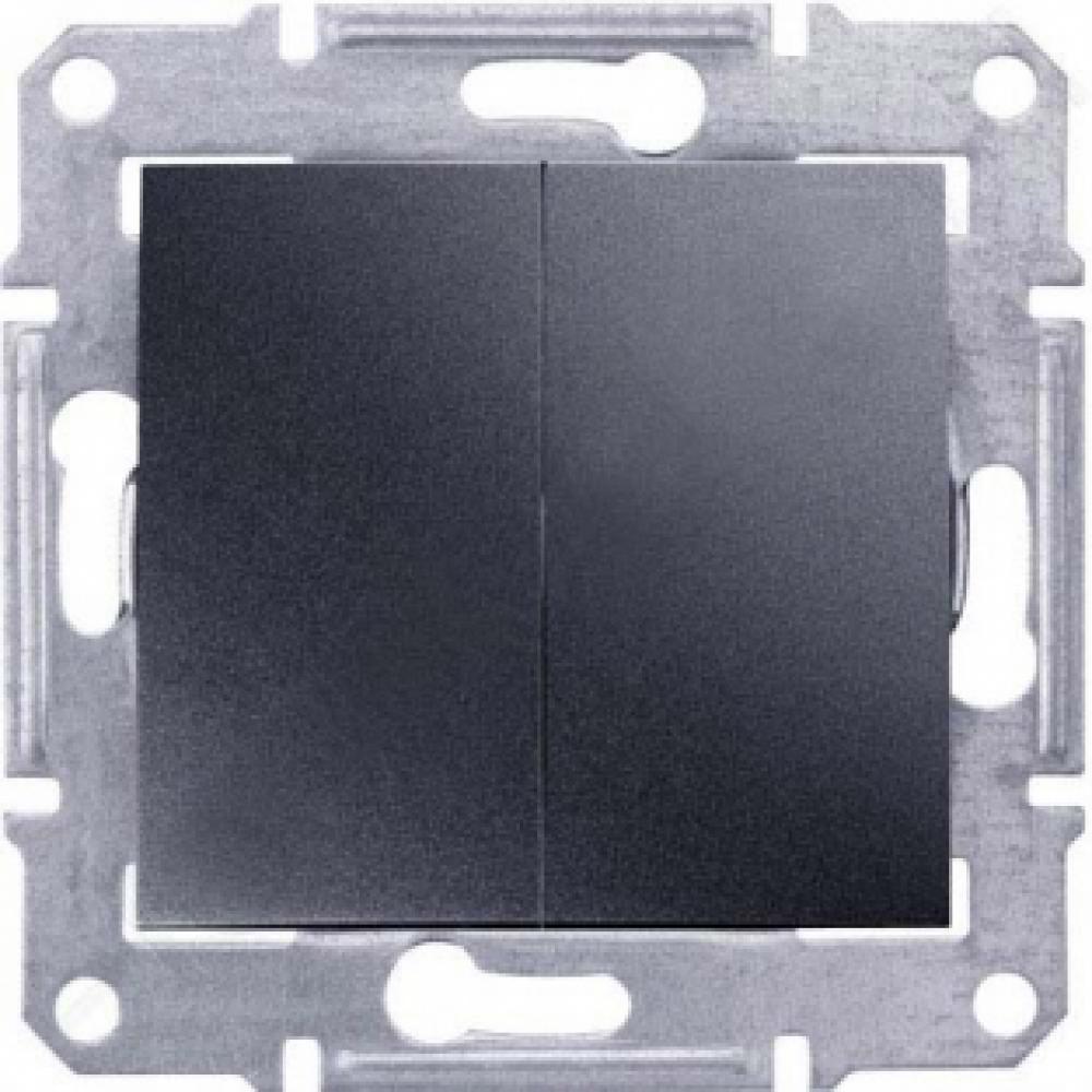 2-кл выключатель графит (SEDNA)