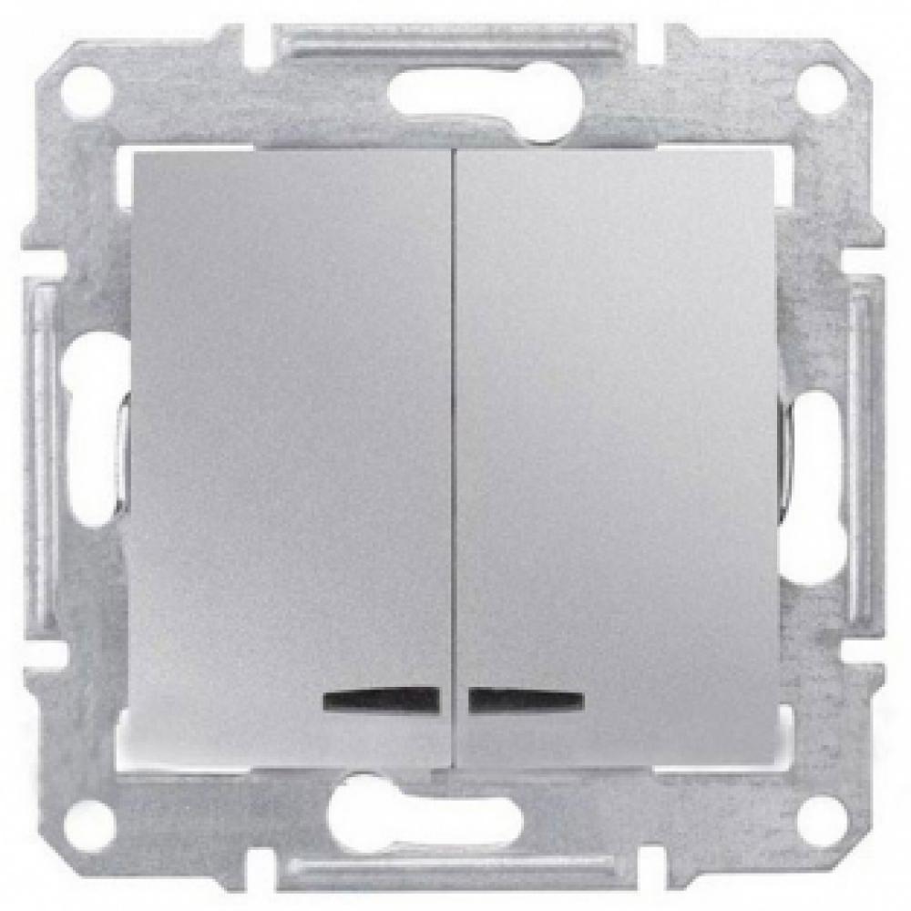 2-кл выключатель алюмин. (SEDNA)