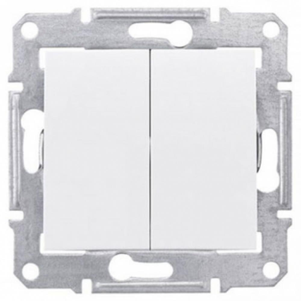 2-кл выключатель белый (SEDNA) IP44