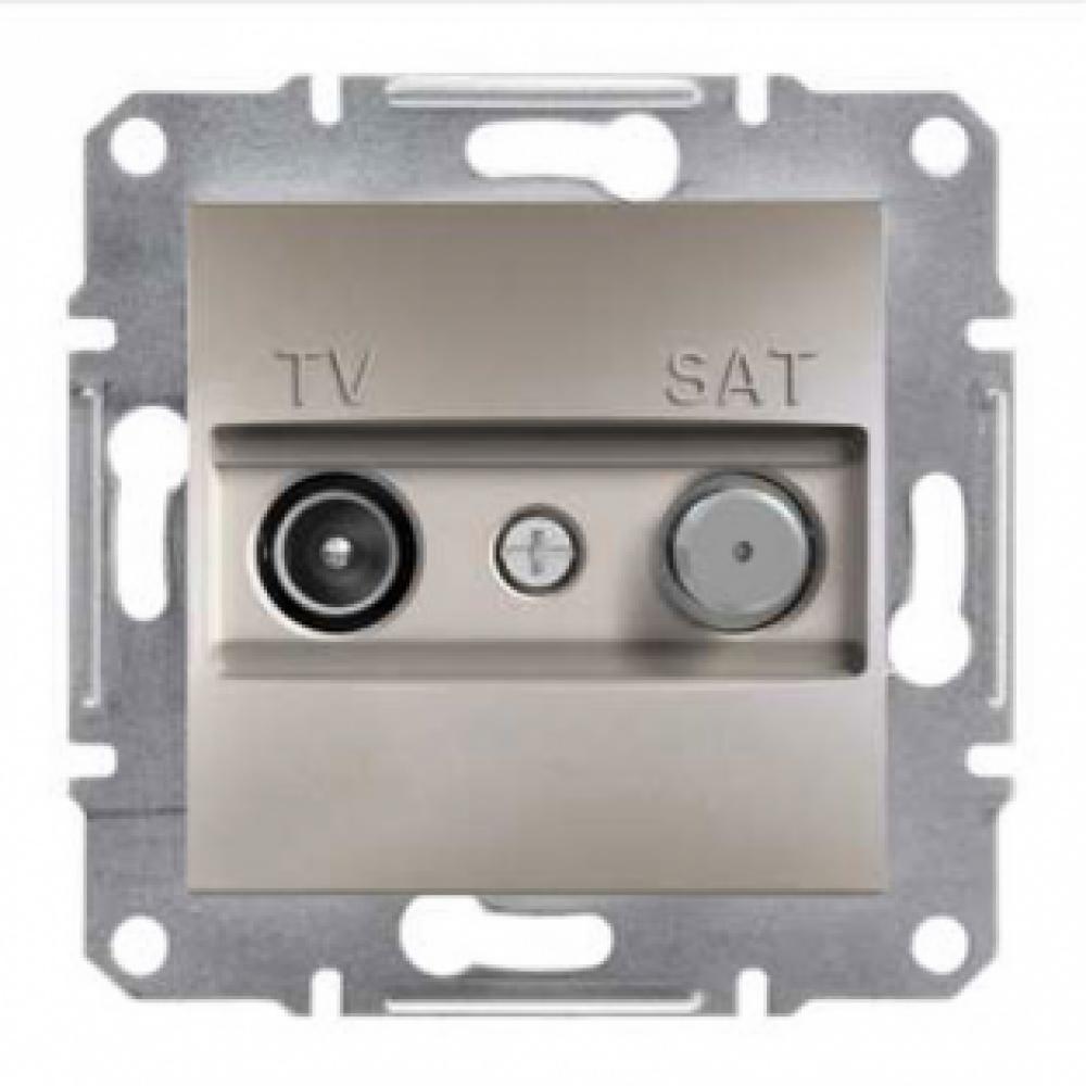 Розетка TV-SAT проходная бронза (ASFORA)