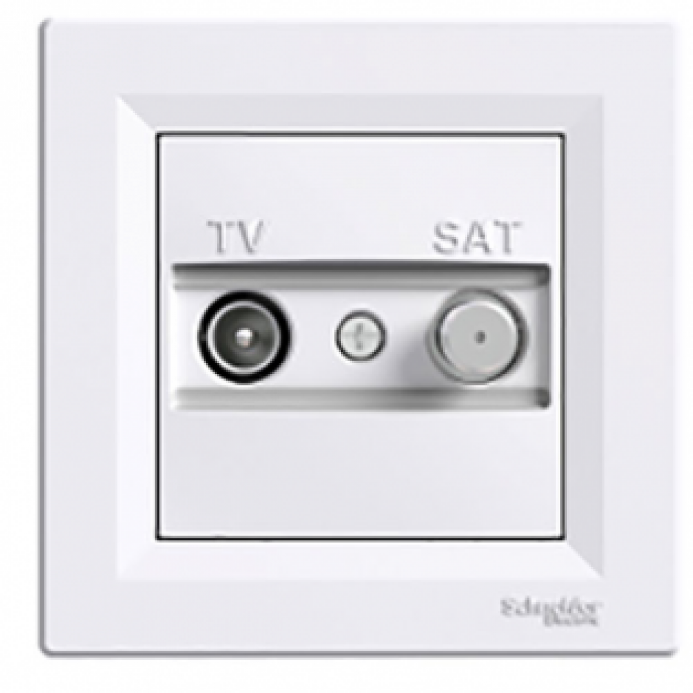 Розетка TV-SAT индивидуальная белая (ASFORA)