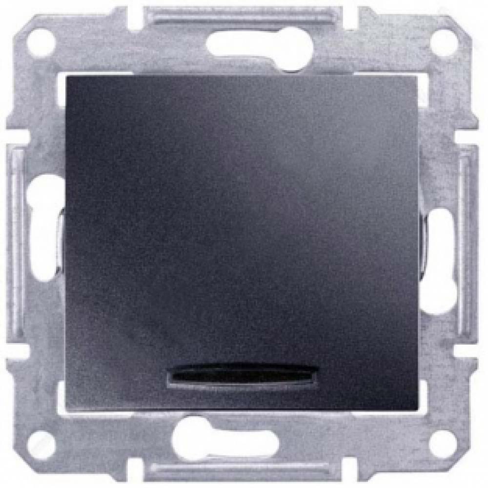 Промежуточный выключатель с подсветкой графит (SEDNA)