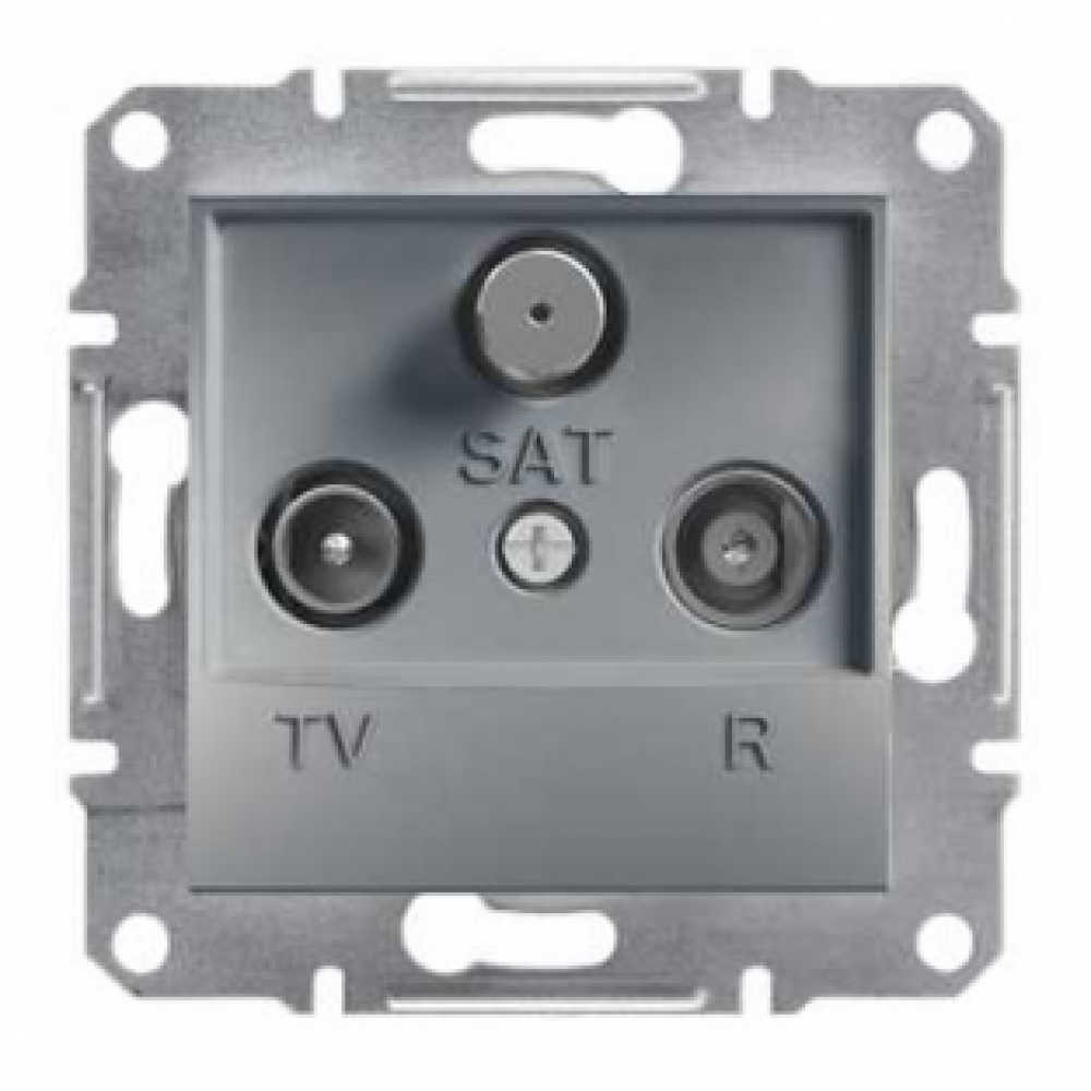 Розетка TV-R-SAT конечная сталь (ASFORA)