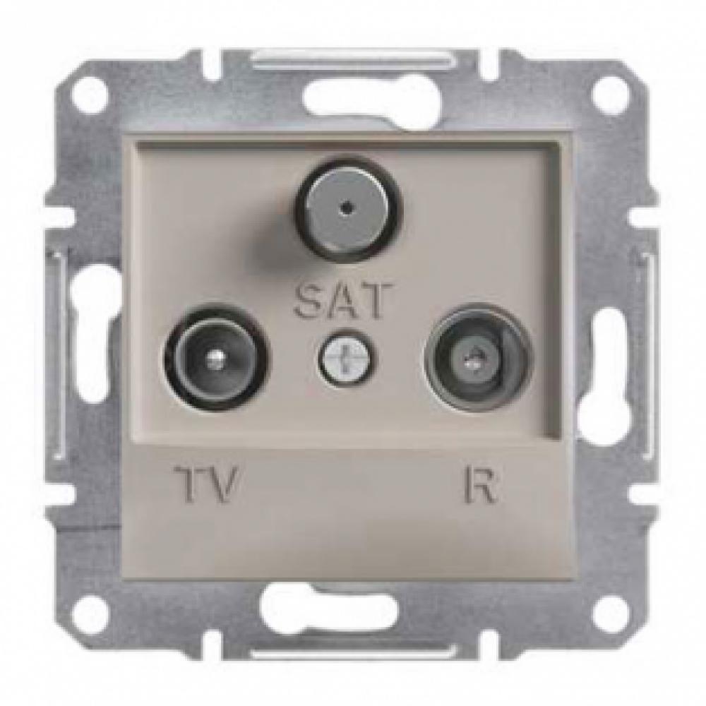 Розетка TV-R-SAT проходная бронза (ASFORA)