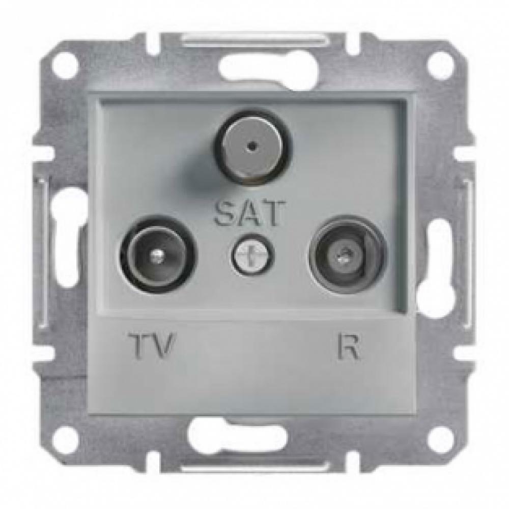 Розетка TV-R-SAT проходная алюминиевая (ASFORA)
