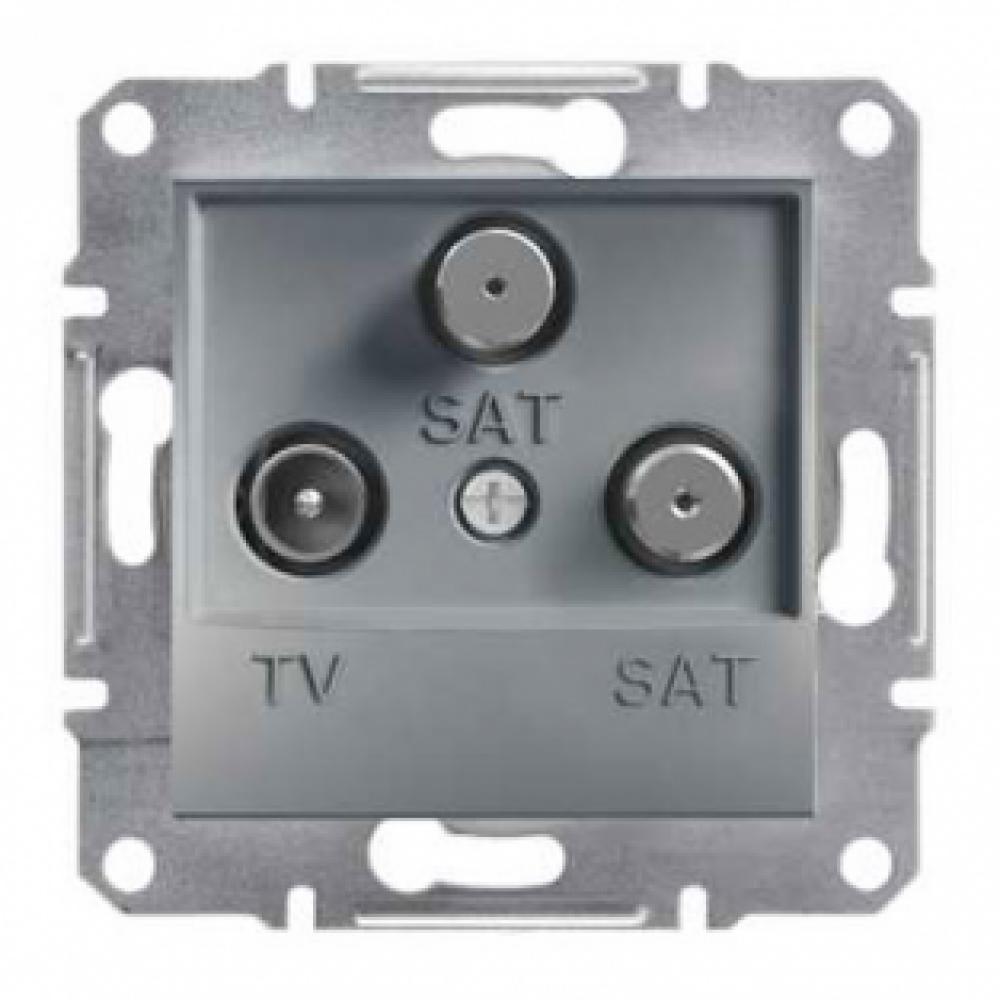 Розетка TV-SAT-SAT конечная сталь (ASFORA)