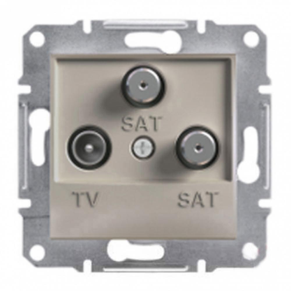 Розетка TV-SAT-SAT кінцева бронза (ASFORA)