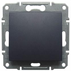 Кнопка вимикач графіт (SEDNA)