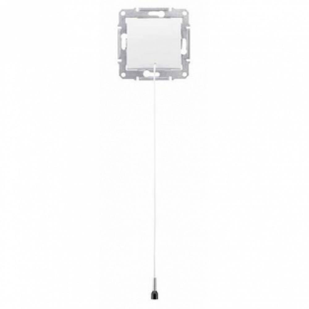 Кнопка выключатель с ниткой белая (SEDNA)