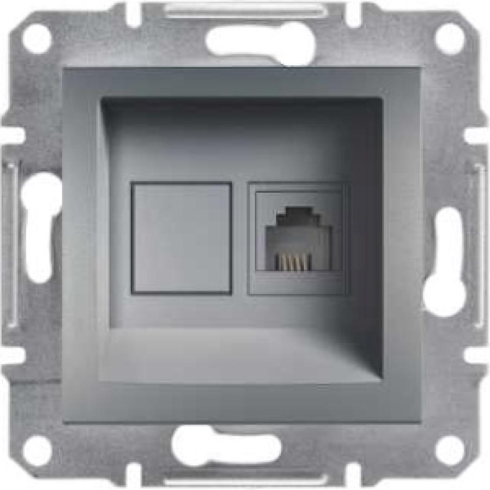 Розетка компьютерная сталь (ASFORA)