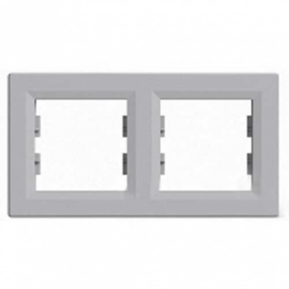Рамка двойная алюминиевая (ASFORA)