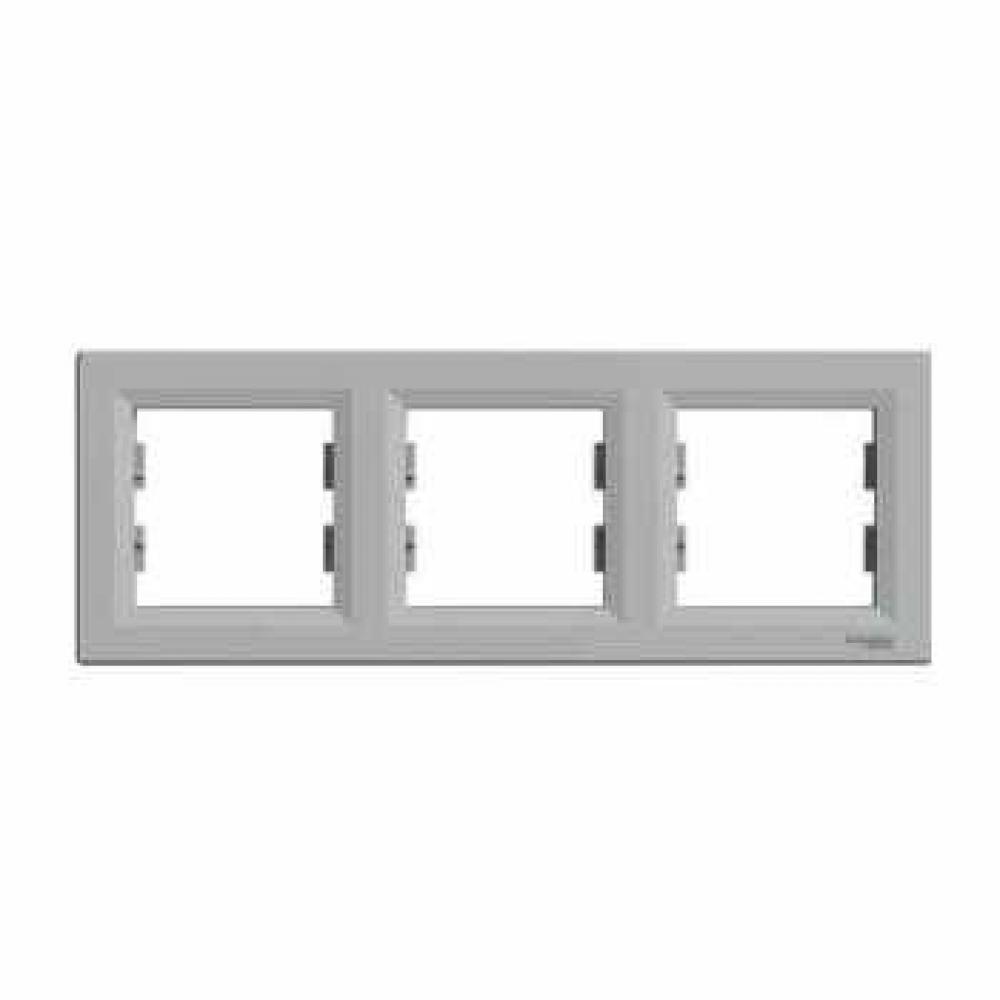 Рамка тройная алюминиевая (ASFORA)